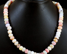 Pink Australian Opal Beads Necklace