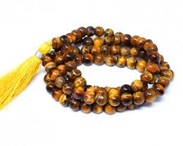 Golden Tiger Eye 108 Beads Prayer Mala