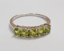 Peridot 925 Sterling silver ring #235