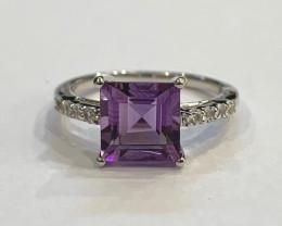 Amethyst 925 Sterling silver ring #619