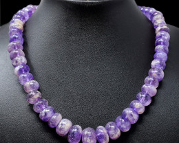 Bi-Color Amethyst Round Beads Necklace