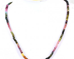Watermelon Tourmaline Beads 20 Inches Long Necklace