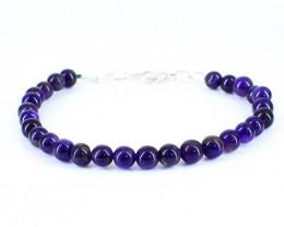 Purple Amethyst Beads Bracelet