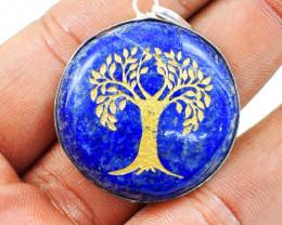 Tree Of Life Lapis Lazuli Chakra Pendant