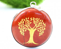Red Jasper Tree Of Life Chakra Pendant