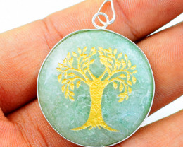 Tree Of Life Green Aventurine Chakra Pendant