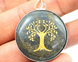 Tree Of Life Aventurine Chakra Pendant