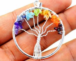 Seven Chakra Tree Of Life Pendant