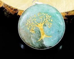 Aventurine Tree Of Life Chakra Pendant