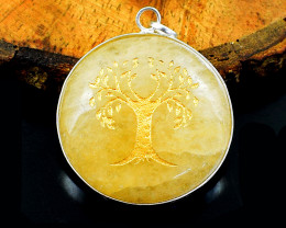 Yellow Aventurine Tree of Life Chakra Pendant