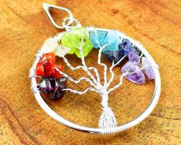 Seven Chakra Tree Of Life Chakra Pendant