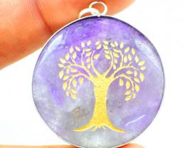 Tree Of Life Amethyst Chakra Pendant