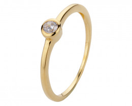 0.1 ct Diamond 14k yellow Gold ring #9616