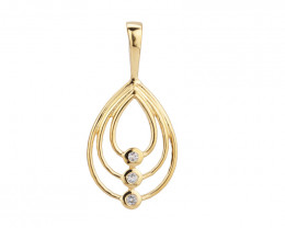 0.04 ct Diamond 14k yellow Gold pendant #8565
