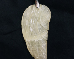 67Ct Of Natural Leaf Shape Calcite Pendent