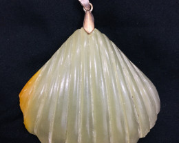141 Ct Of Natural Leaf Shape Calcite Pendent