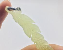 58Ct Of Natural Leaf Shape Calcite Pendent