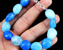 Blue Onyx Tumble Beads Bracelet