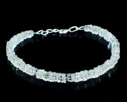 Blue Aquamarine Beads Bracelet