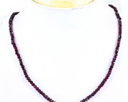 Red Garnet Faceted Beads Necklace