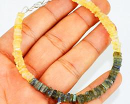 Citrine & Amazing Flash Labradorite Beads Bracelet