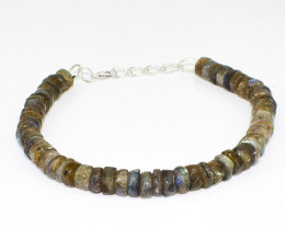 Amazing Flash Labradorite Round Beads Bracelet