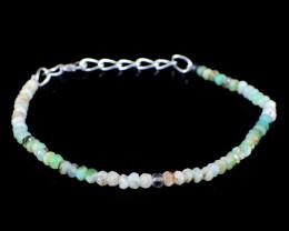 Peruvian Opal Faceted Beads Bracelet