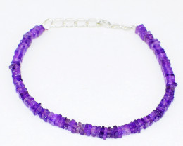 Purple Amethyst Beads Bracelet