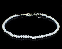 Moonstone Round Beads Bracelet