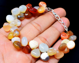 Mix Gemstone Pear Shape Beads Barcelet