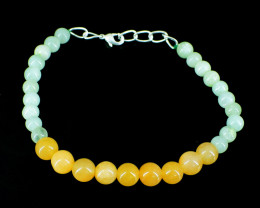 Yellow Aventurine & Aquamarine Beads Bracelet