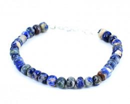 Blue Sodalite Beads Bracelet