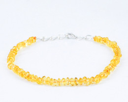 Yellow Citrine Faceted Beads Bracelet
