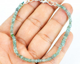 Blue Aquamarine Faceted Beads Bracelet