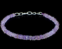 Genuine 40.00 Cts Amethyst Beads Barcelet
