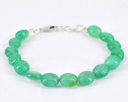 Green Jade Oval Beads Bracelet