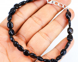 Black Spinel Beads Bracelet