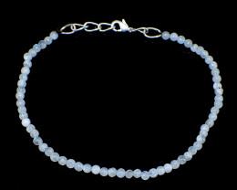 Blue Moonstone Round Beads Bracelet
