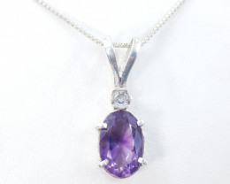 Natural Amethyst Zarcon Necklace