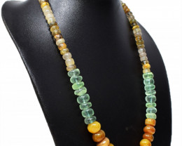 Multicolor Mix Gem Round Beads Necklace