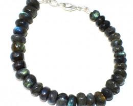 Blue Flash Labradorite Beads Bracelet