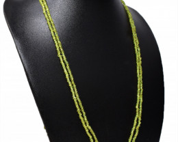 Green Phrenite Faceted Beads Necklace
