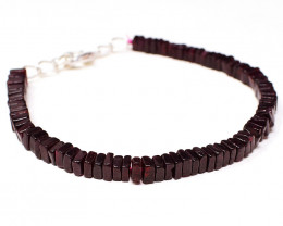 Red Garnet Beads Bracelet