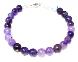 Bi-Color Amethyst Beads Bracelet