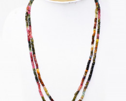 Watermelon Tourmaline Faceted Beads Necklace