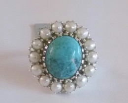 Turquoise Genuine 925 Silver #009