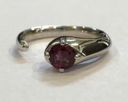 Garnet 925 Sterling silver ring #687