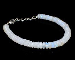 Blue Flash Moonstone Beads Bracelet