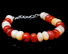 Carnelian & Agate Beads Bracelet