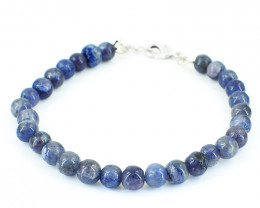 Blue Iolite Beads Bracelet